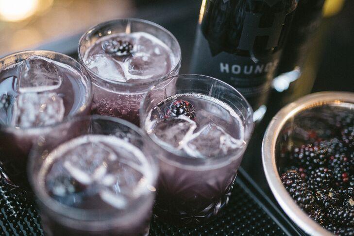 Black Vodka and Black Raspberry Cocktails