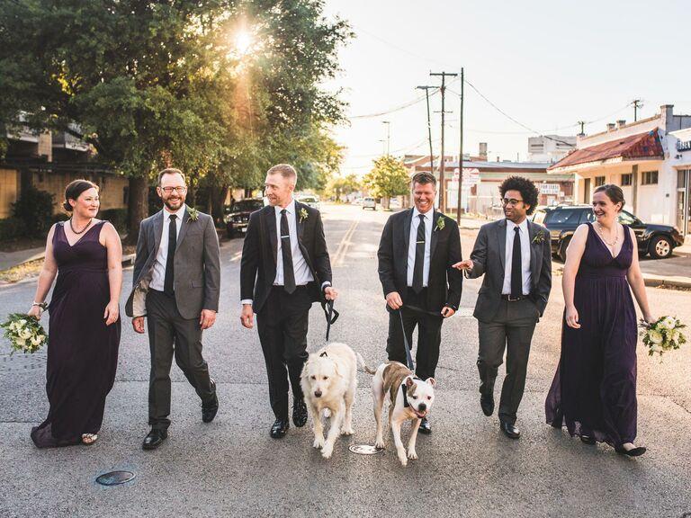Bridesman and groomsmen