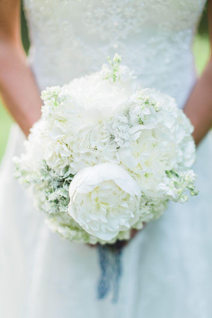 Romantic White Peony and Hydrangea Bouquet