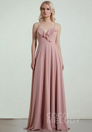 CocoMelody Bridesmaid Dresses RB0322 V-Neck Bridesmaid Dress