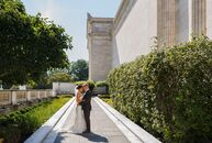 The architecture and beautifully designed spaces at the Cleveland Museum of Art served as the ideal setting thatJackie Mueller (26 and a brand manage