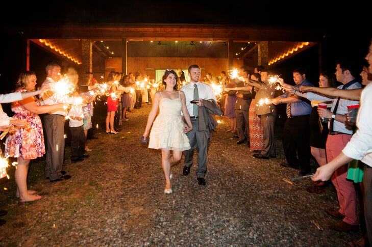 """We really loved how or venue felt like we were in our own little world with our family and friends,"" says Lisa-Michelle. ""They were all having a wonderful time dancing, playing yard games, wandering the vines or just enjoying the fire and the view!"""