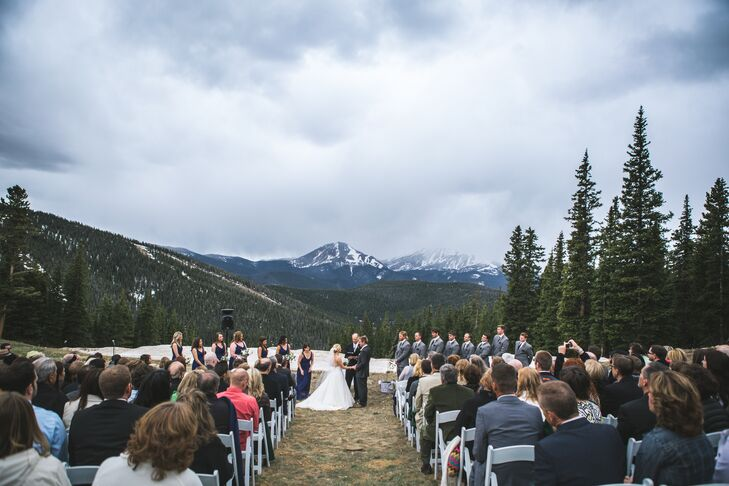 Grace and Luke Outdoor Ceremony at Timber Ridge Lodge
