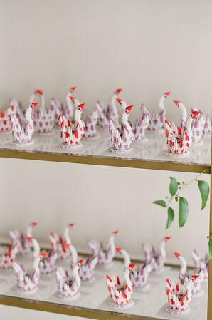 Whimsical Origami Swam Wedding Favors