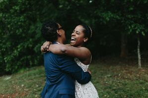 Couple Laughing During Georgia Elopement Pictures