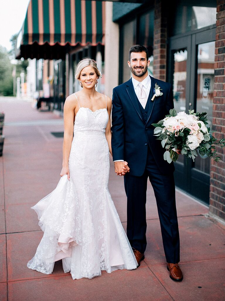 Classic wedding dress with lace