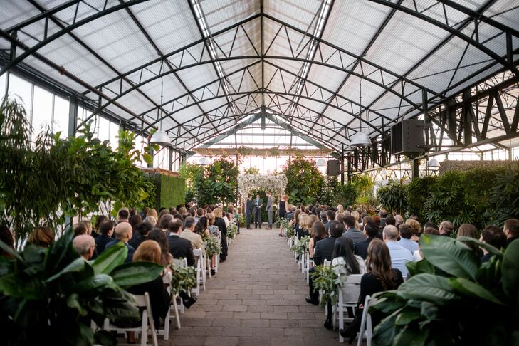 Natural Greenhouse Wedding Ceremony