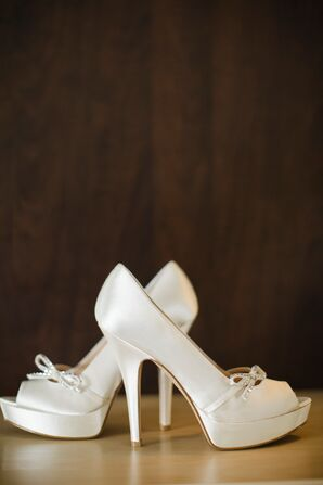White Heels with Bow