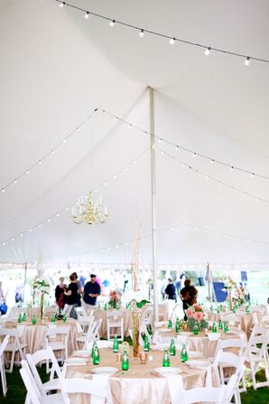 Gold Chandelier White Tent Decor