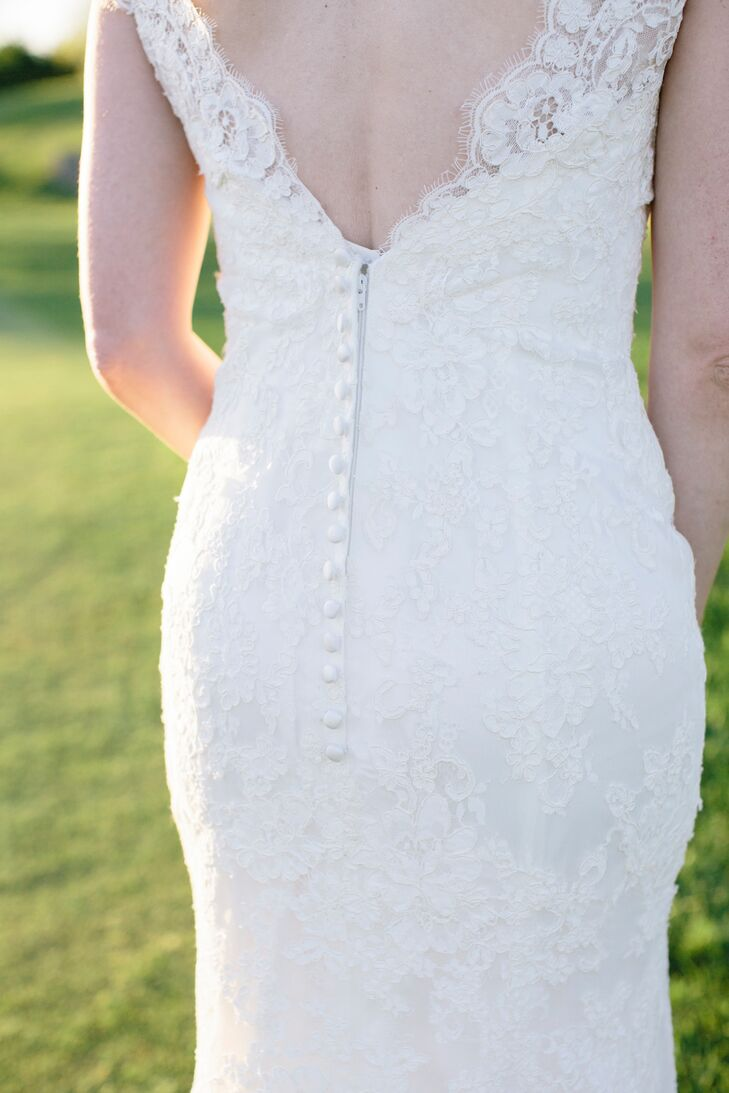 Button-Back Lace Wedding Gown