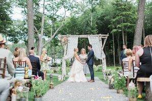 Handcrafted Birch Wedding Arbor