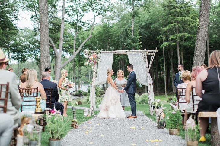 Handcrafted Birch Wedding Arbor