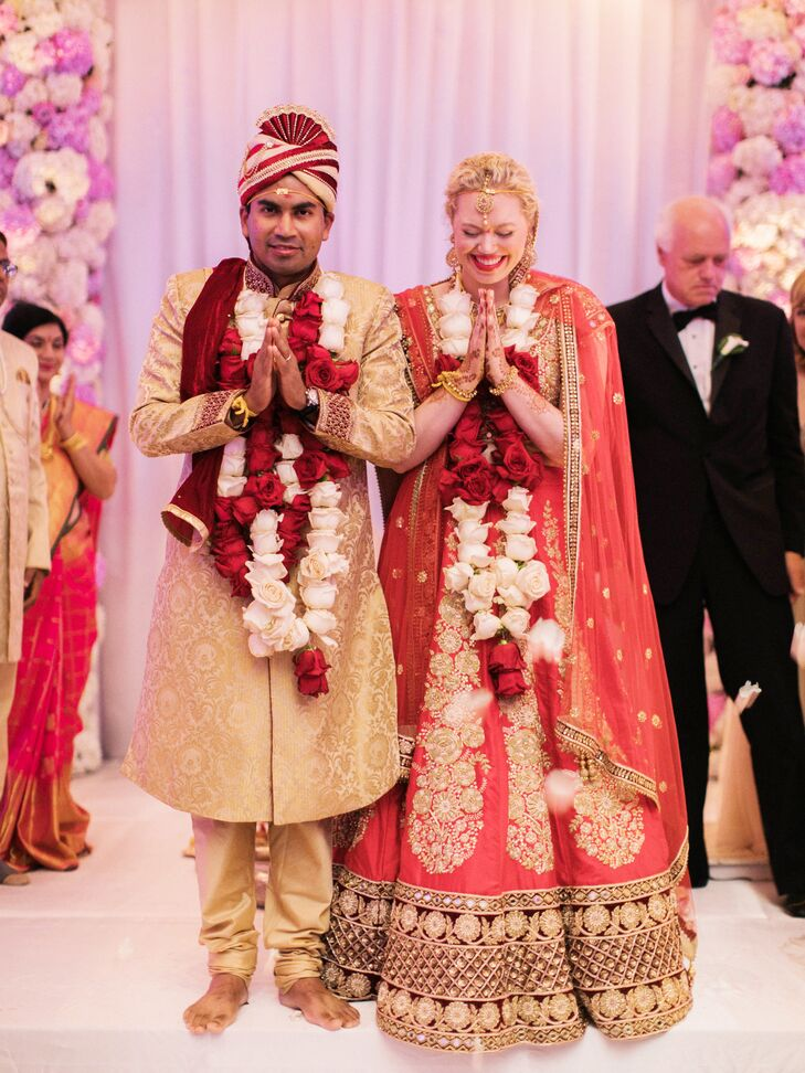 Couple at Traditional Hindu Ceremony