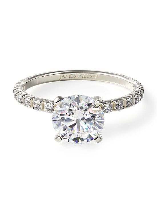 James Allen White Gold Thin French Cut Pave Set Diamond