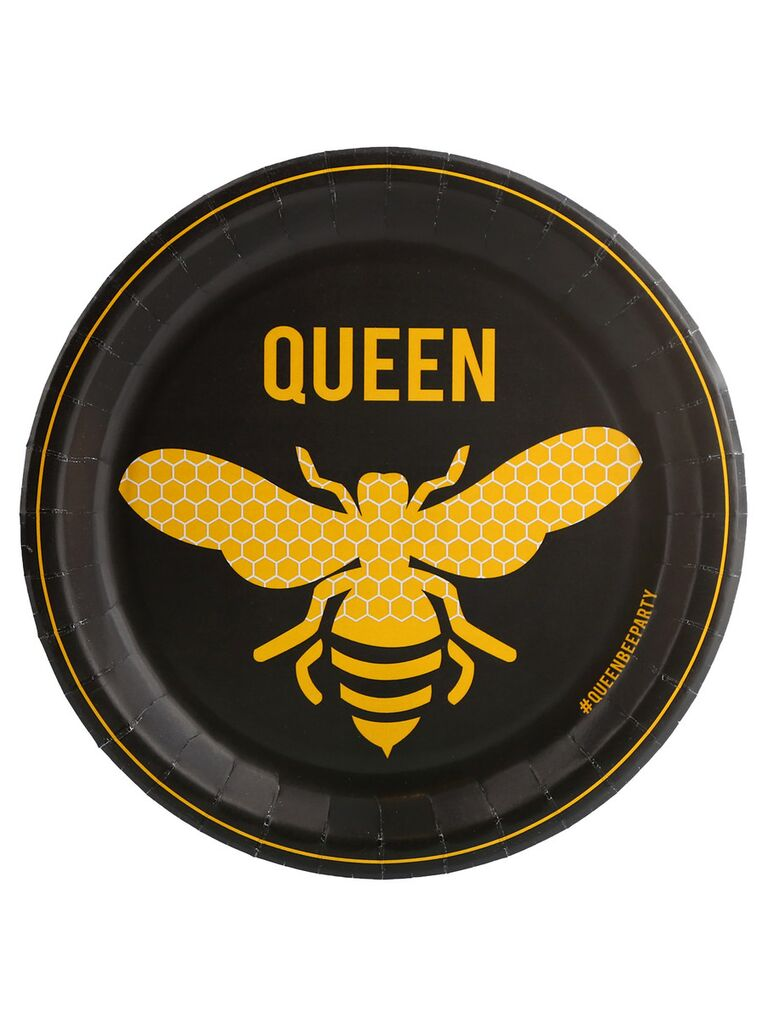 Queen bee bachelorette party plate