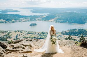 Romantic, White Lace Wedding Gown