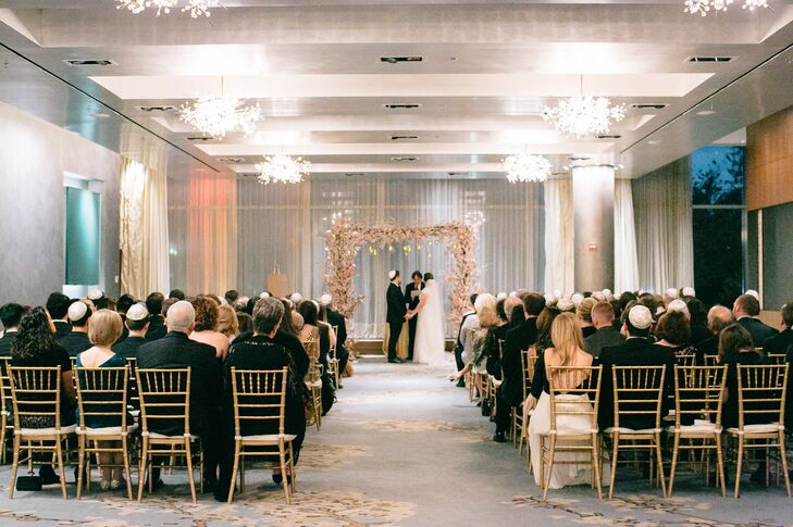 Classic Gold, White and Blush Ceremony in Boston, Massachusetts