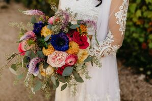 Color Bridal Bouquet for Fort Worth, Texas Wedding