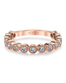 MARS Fine Jewelry MARS Jewelry 26185 Wedding Band Rose Gold Wedding Ring