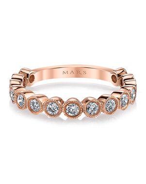MARS Fine Jewelry MARS Jewelry 26185 Wedding Band Rose Gold Wedding Ring
