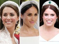 Kate Middleton, Meghan Markle and Princess Eugenie royal wedding tiaras