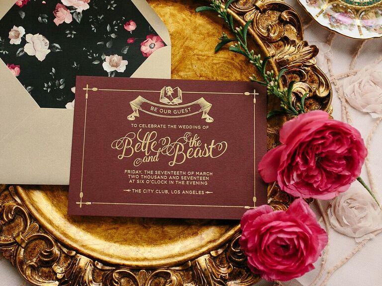 Beauty and the Beast invitation