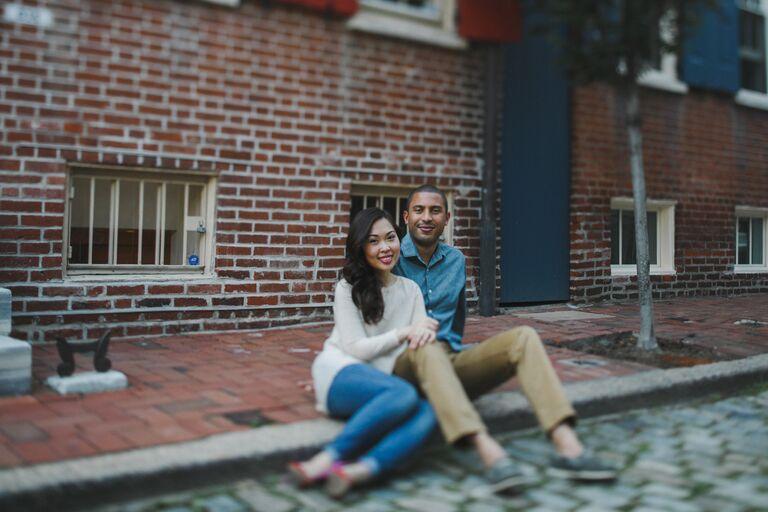 Uyen and Ian engagement photo Philadelphia PA