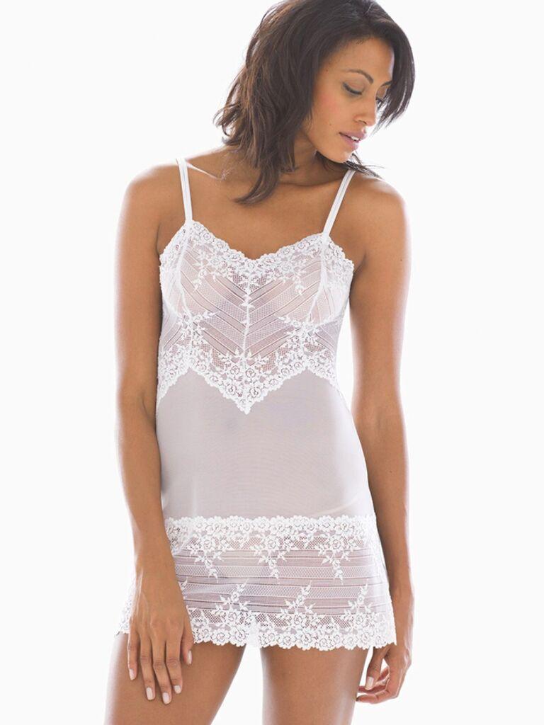 white slip bridal lingerie