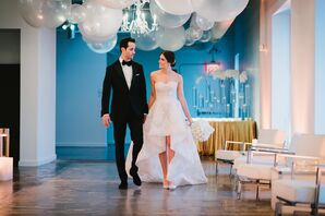 Glamorous Bride and Groom at The Loading Dock