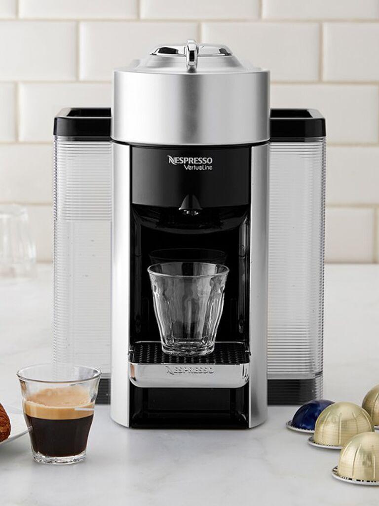 Nespresso silver coffee machine 25th anniversary gift