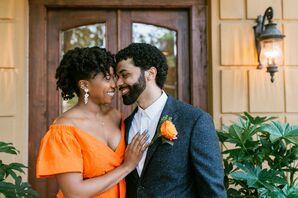 Bride and Groom Portraits at Minimony in Atlanta, Georgia