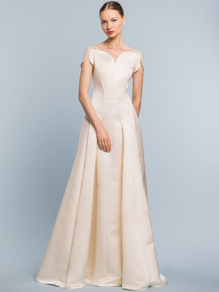 EDEM Demi Couture A-line dress with curved neckline