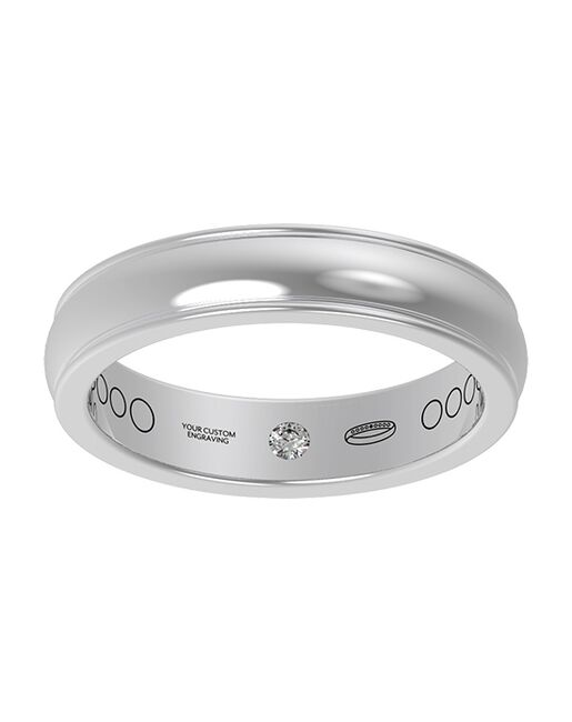 Everband 4 mm Linea Gold, Rose Gold, White Gold, Platinum Wedding Ring