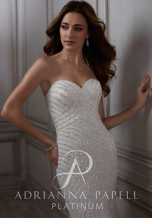 Adrianna Papell Platinum Adrianna Mermaid Wedding Dress