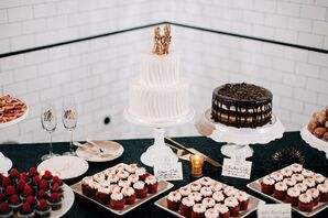 Red, White and Black Dessert Table