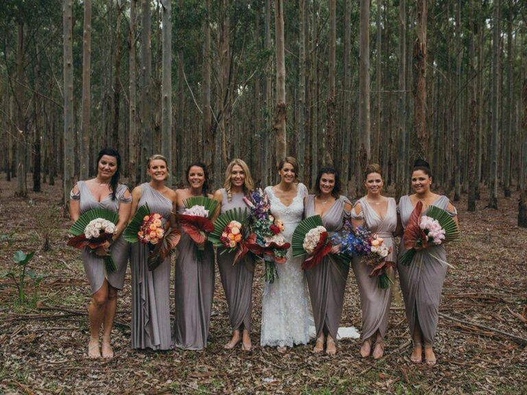 50be0aeef69 How to Choose Mismatched Bridesmaids Dresses the Right Way