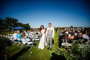 Bride and Groom Outdoor Recessional