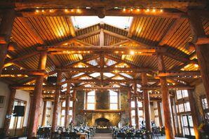 A Rustic Indoor Reception at Timber Ridge Lodge