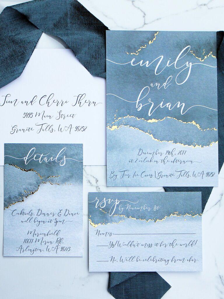 Winter Wedding Invitations We Love