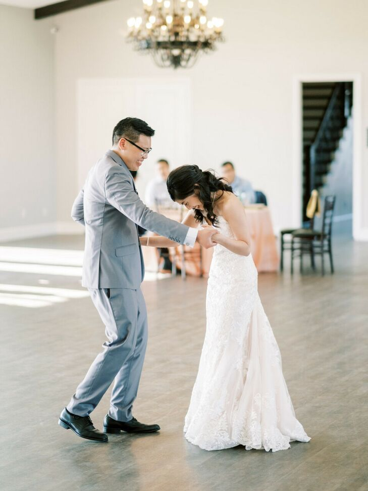 First Dance During Wedding at Dove Ridge Vineyard in Weatherford, Texas