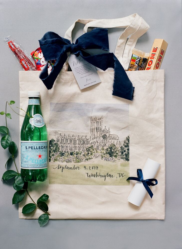 Preppy Illustrated Welcome Bags with Candy