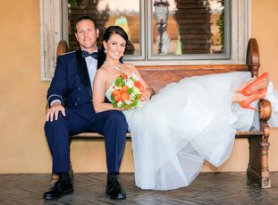 Rebecca Adams (31 and a dental hygienist) and Todd Adams (35 and in the US military) wanted a beautiful indoor wedding to stay o