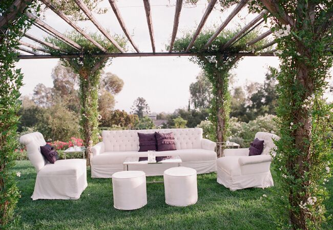 outdoor cocktail lounge | Elizabeth Messina | Blog.theknot.com