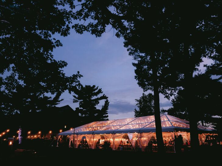 Sunset Reception at The Forest Lake Club in Pennsylvania