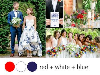 4th of July wedding color inspiration