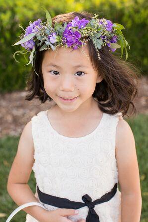 Whimsical Purple Flower Crown