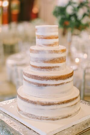 Simple, Four-Tier Naked Cake
