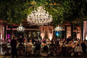 Glamorous Brazos Hall Reception Dinner