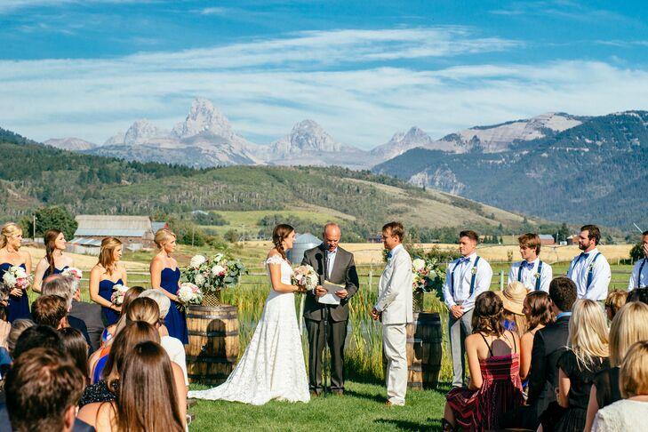 Wyoming Ranch Outdoor Wedding Ceremony