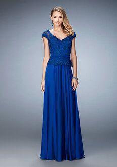 La Femme Evening 23085 Blue Mother Of The Bride Dress